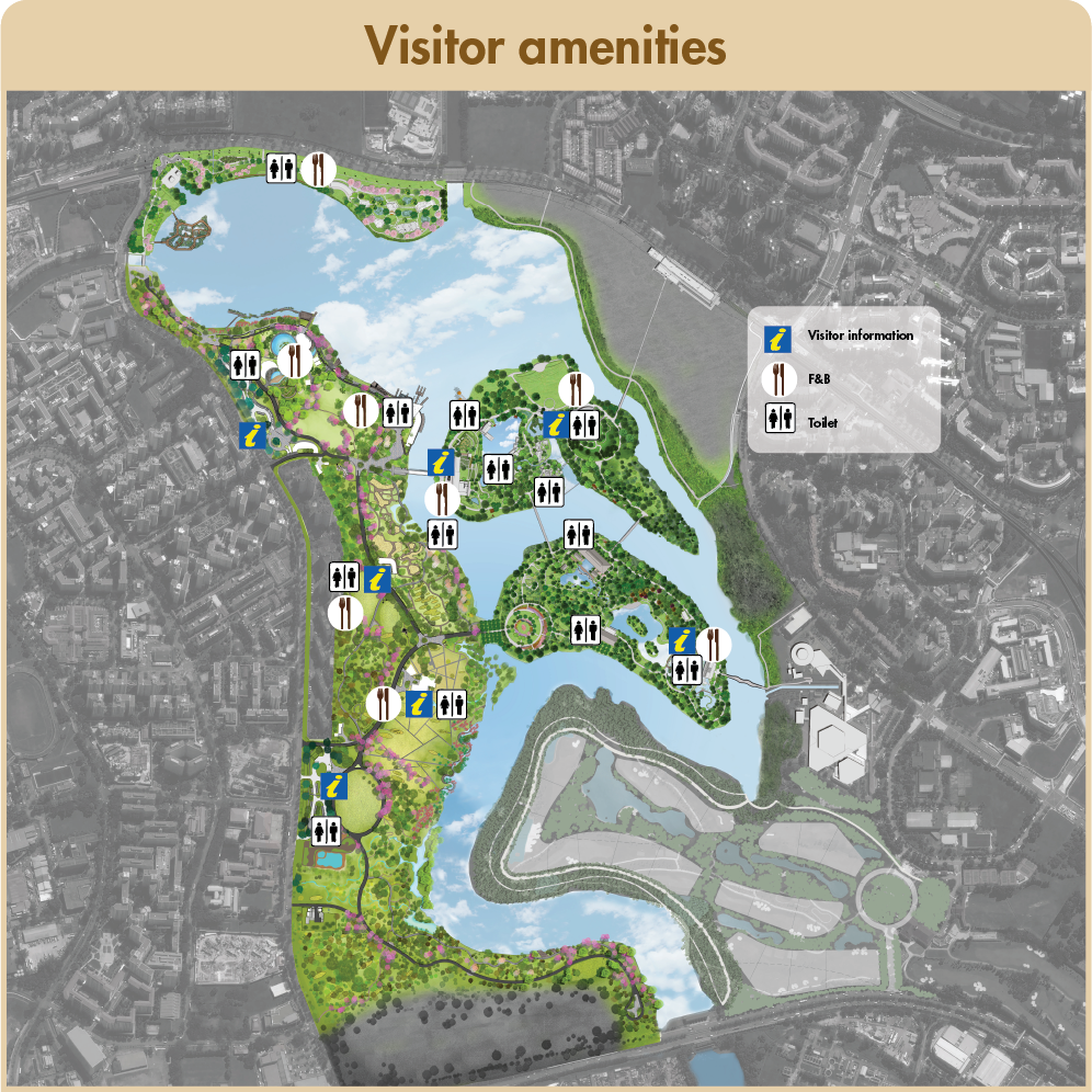 Visitor amenities diagram