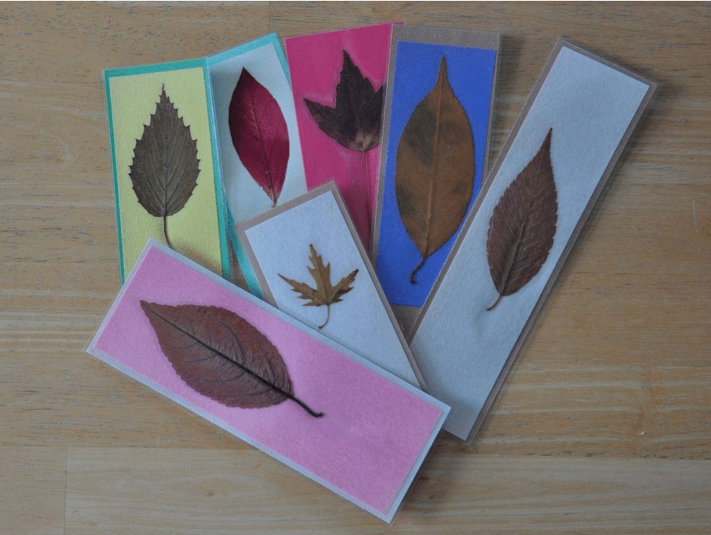 leaf bookmarks