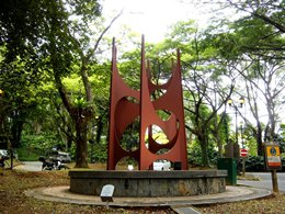 Picture of the Augury Sculpture at ASEAN Sculpture Garden.