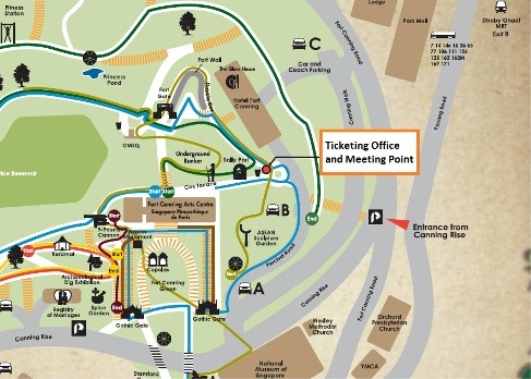 Fort Canning Park Map, Meeting Point Location