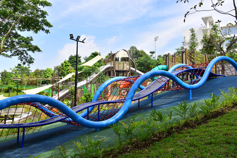 Guide to Woodlands in Singapore - Admiralty Park slides for kids