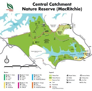 Central Catchment Nature Reserve Map