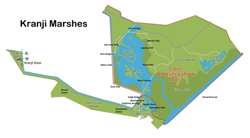 Kranji Marshes map