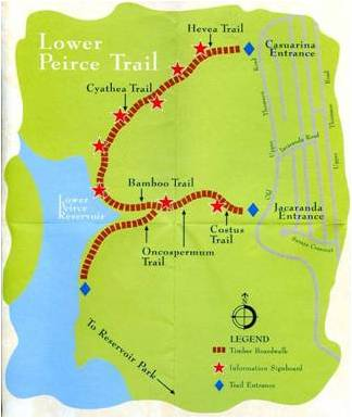 Lower Peirce Trail Map