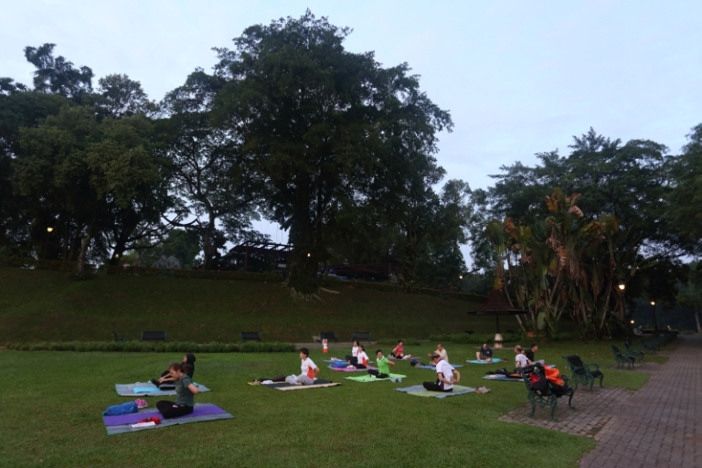 Exercise workout at MacRitchie Reservoir Park