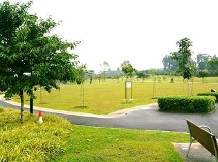 Green Lawn at Woodlands Waterfront Park