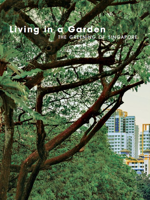 picture of a book titled living in a garden