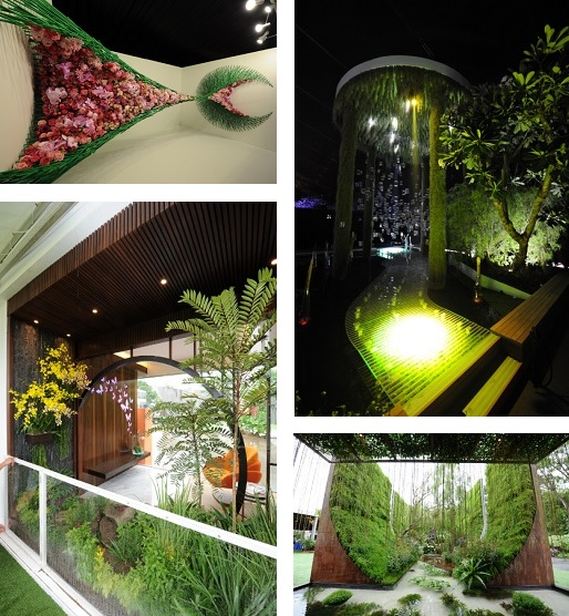 Best of Show Winners from SGF 2016 (Clockwise from top left Natasha Lisitsa and Daniel Schultz (USA) Stefano Passerotti (Italy) with Ban Nee Chen Pte Ltd ... & Singapore Garden Festival - - - Whatu0027s On - Activities - National ...