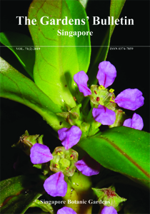 Cover Page of Gardens Bulletin Singapore Vol.71 (02)