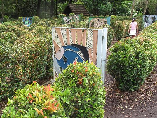Image of the Melting Maze attraction located inside the Jacob Ballas Childrens Garden.