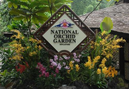 Image Of The Entrance Of National Orchid Garden.