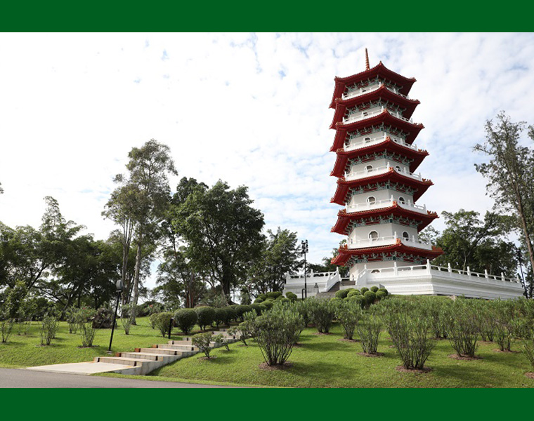Pagoda at Japanese Garden East of Singapore