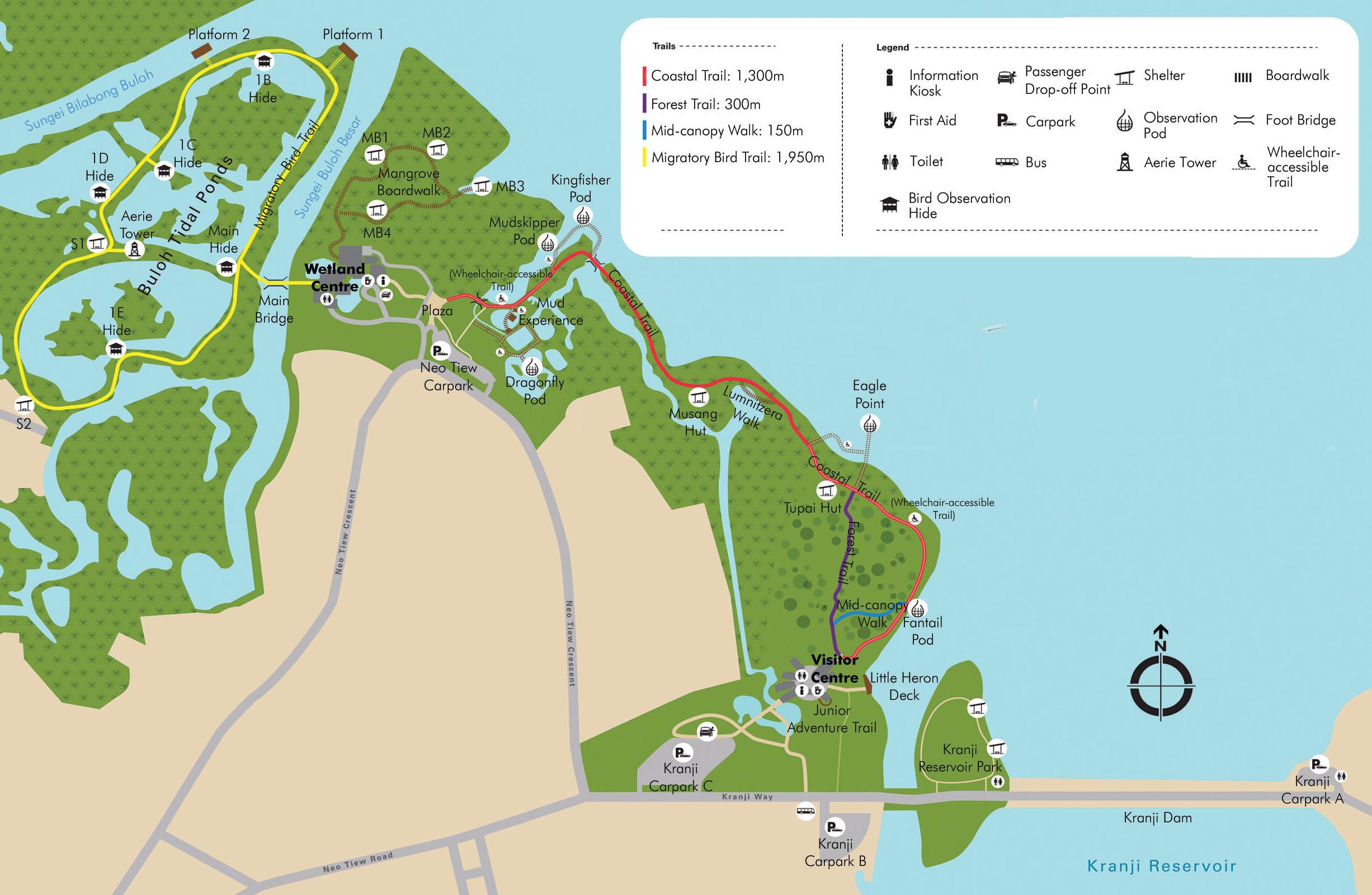 Sungei Buloh Wetland Reserve on Pioneer Chart