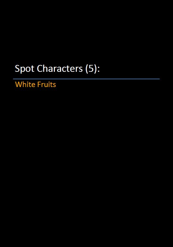 Spot Characters 5_White Fruits Pic
