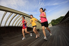 Jogging at Henderson Waves