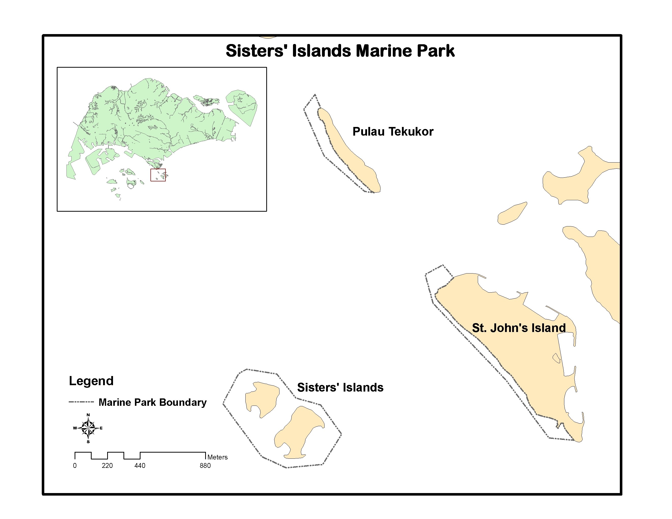 Map of Sisters' Islands Marine Park