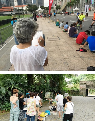 Singapore School Holidays Sketching Get-together with Artist